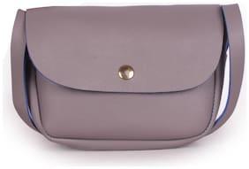 Bagkok Grey PU Solid Sling Bag