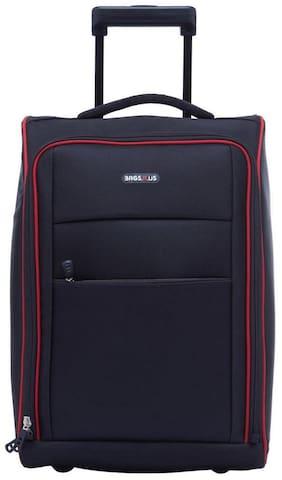 BagsRus Medium Size Soft Luggage Bag ( Black , 2 Wheels )