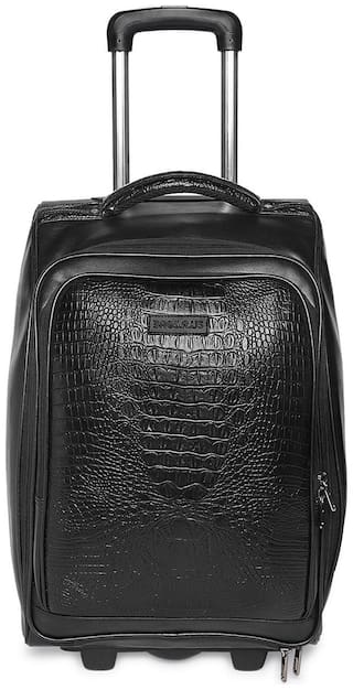 BagsRus Medium Size Soft Luggage Bag ( Black , 2 Wheels )