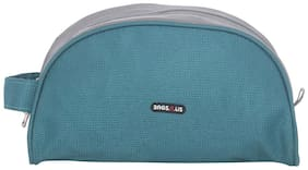BagsRUs Aqua and Grey Polyester 3.4 Liter Travel Toiletry Bag for Men and Women (TK111FAQ)