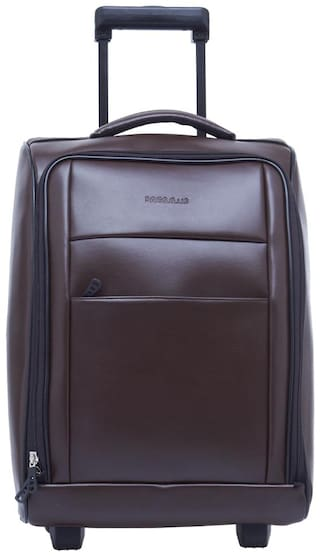 BagsRus Cabin Size Soft Luggage Bag ( Brown , 2 Wheels )