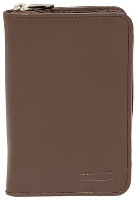 BagsRUs Brown Leather All in One Passport Holder Travel Organizer Wallet (PP106FBR)