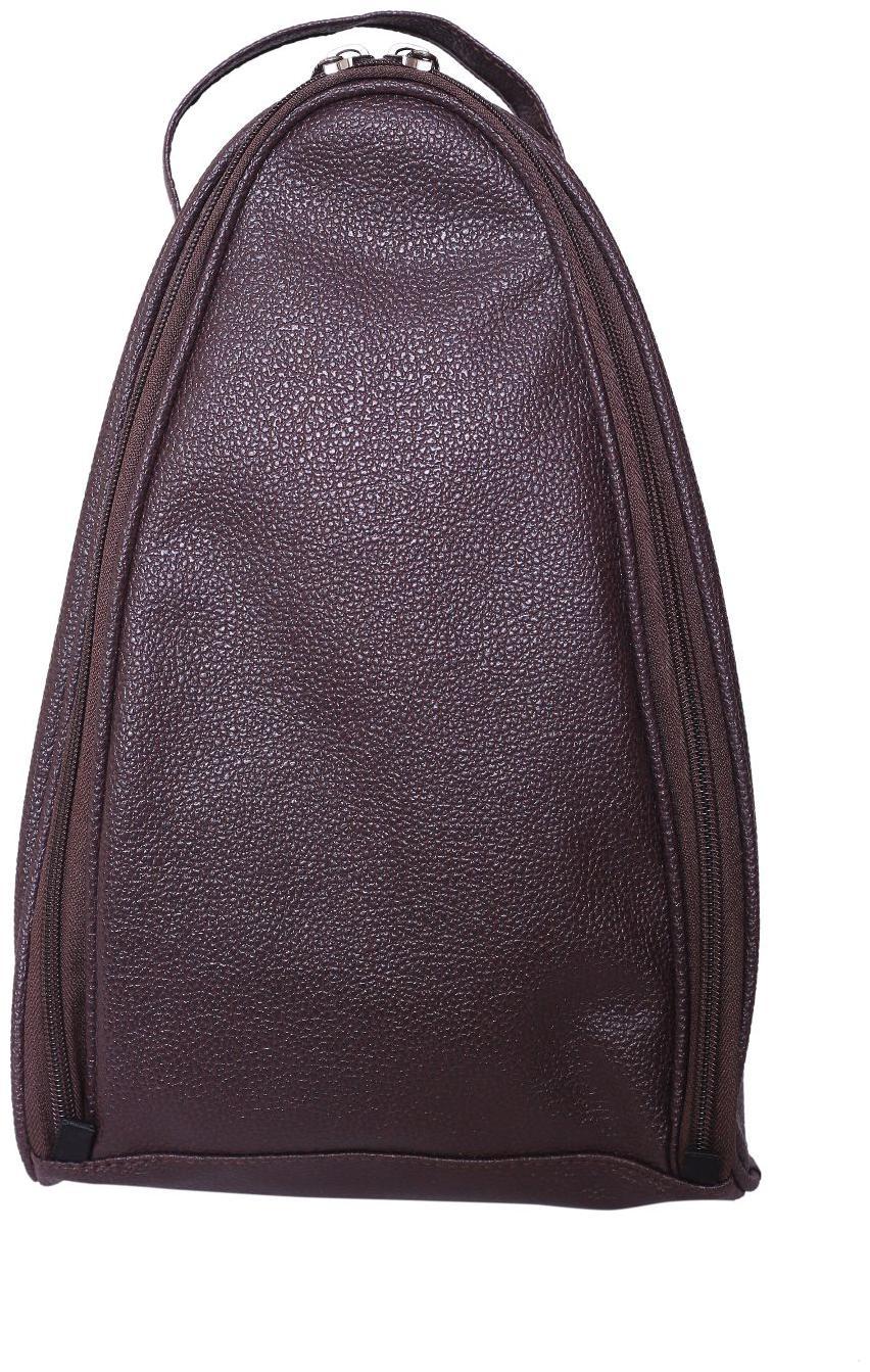 BagsRUs Brown Leatherette Protective Shoe Travel Bag  SH104FBR