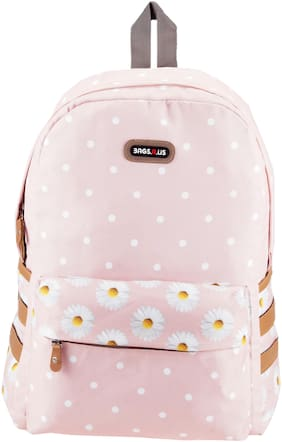 BagsRus Pink Polyester Backpack
