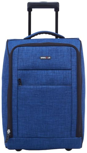 BagsRUs Matte Blue Polyester 36L Cabin Luggage Overnight Travel Trolley Bag (CA113FJB)