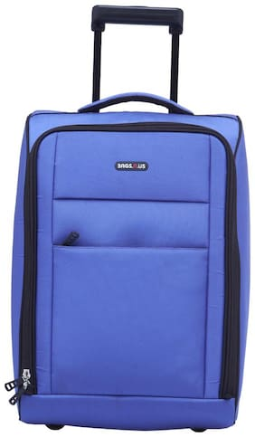 BagsRUs Matte Orchid Blue Polyester 36L Cabin Luggage Overnight Travel Trolley Bag (CA113FOC)