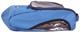 BagsRUs Navy Blue Water Resistant Polyester Protective Shoe Travel Bag with Zip Closure (SH103FNB)