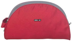 BagsRUs Red and Grey Polyester 3.4 L Travel Toiletry Bag for Men and Women (TK111FRE)