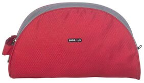 BagsRUs Red and Grey Polyester 3.4 Liter Travel Toiletry Bag for Men and Women (TK111FRE)