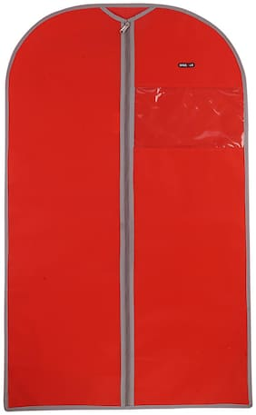BagsRUs RED Non Woven 3.1 L Large Suit Dress Garment Cover (GC101FRD)