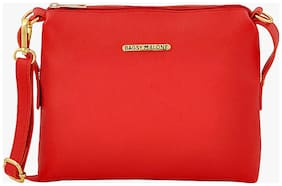 Bagsy Malone Women Solid PU - Sling Bag Red