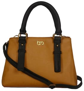 Bagsy Malone Faux Leather Women Handheld Bag - Brown