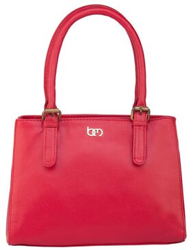 Bagsy Malone Women Faux Leather Others Handheld Bag - Red