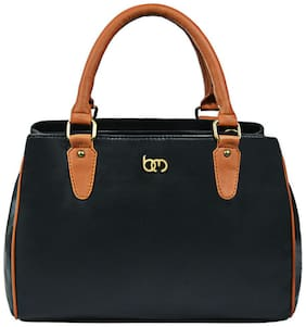 Bagsy Malone Faux Leather Women Handheld Bag - Black