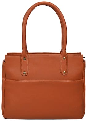 Bagsy Malone Faux Leather Women Handheld Bag - Tan