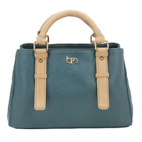 Bagsy Malone Faux Leather Women Handheld Bag - Green