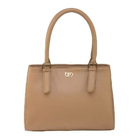 Bagsy Malone Faux Leather Women Shoulder Bag - Beige