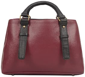 Bagsy Malone Faux Leather Women Handheld Bag - Red