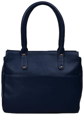 Bagsy Malone Faux Leather Women Handheld Bag - Blue