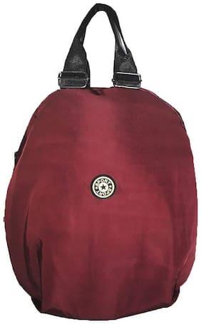 BAGZAR Maroon Nylon Backpack