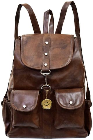 BEETS COLLECTION Brown Canvas Backpack
