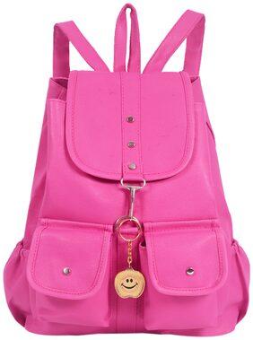 Beets Collection Student Shoulder Backpack for Women & Girls Bag ( Pink )
