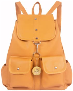 BEETS COLLECTION Yellow PU Backpack