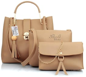 BEETS COLLECTION Tan PU Shoulder Bag - BC001 TAN3