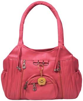 BEETS COLLECTION Pink PU Shoulder Bag - HB-059