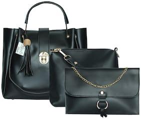 BEETS COLLECTION Black PU Handheld Bag