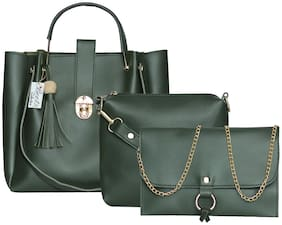 BEETS COLLECTION Green PU Handheld Bag