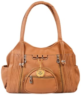 BEETS COLLECTION Brown PU Shoulder Bag - HB-023