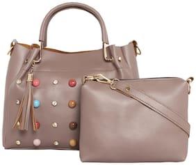 BEETS COLLECTION Brown PU Handheld Bag