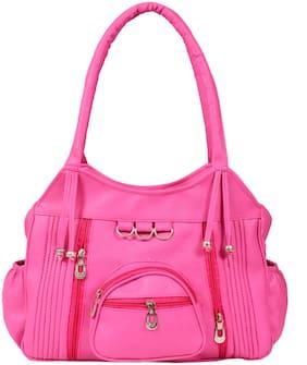 BEETS COLLECTION Pink PU Shoulder Bag - HB-042