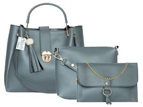 BEETS COLLECTION Grey PU Handheld Bag