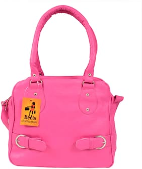 BEETS COLLECTION Pink PU Handheld Bag & Shoulder Bag