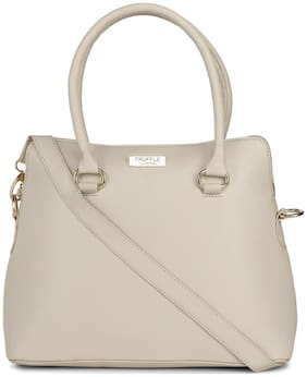Truffle Collection Faux Leather Women Handheld Bag - Beige