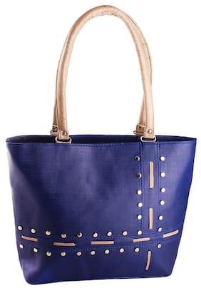 Bellina Faux Leather Women Handheld Bag - Blue