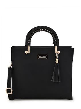 Bellissa Black PU Handheld Bag