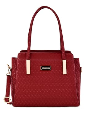 Bellissa Red PU Handheld Bag