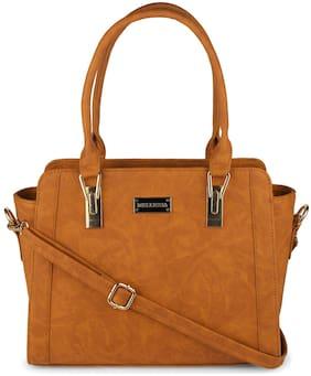 Bellissa Tan PU Handheld Bag