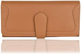 Bellissa Women Solid PU - Clutch Beige
