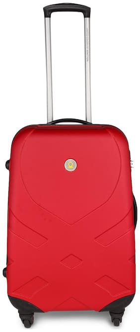 United Colors Of Benetton Large Size Hard Luggage Bag - Red , 4 Wheels