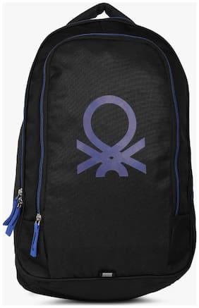United Colors Of Benetton Blue Polyester Backpack