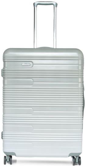 United Colors Of Benetton Large Size Hard Luggage Bag ( Grey , 4 Wheels )