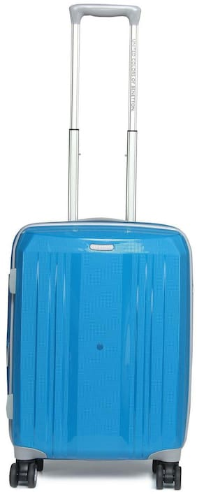United Colors Of Benetton Cabin Size Soft Luggage Bag ( Blue , 4 Wheels )