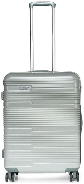 United Colors Of Benetton Medium Size Hard Luggage Bag - Grey , 4 Wheels