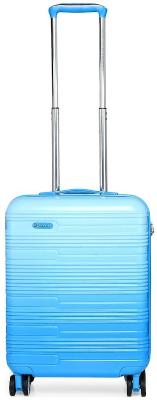 United Colors Of Benetton Cabin Size Hard Luggage Bag - Blue , 4 Wheels