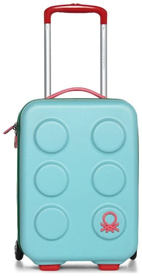 United Colors Of Benetton Cabin Size Hard Luggage Bag - Blue , 2 Wheels