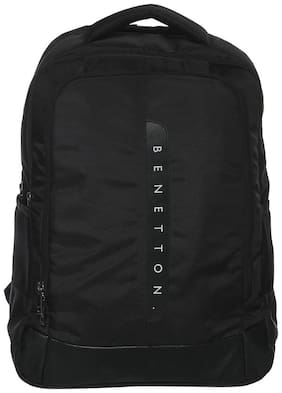 United Colors Of Benetton Black Polyester Backpack